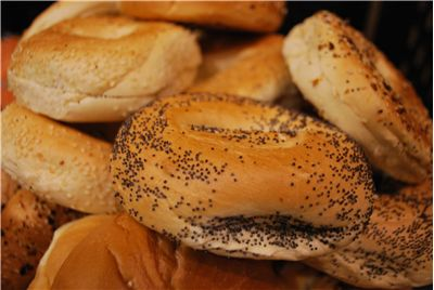 Picture - Close up view to Bagels