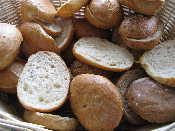 Picture - Bread Rolls in a Basket