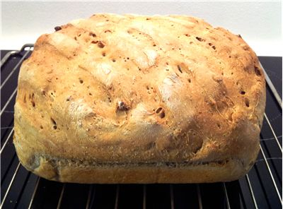Picture - Homemade Bread with Walnuts and Wholemeal Flour